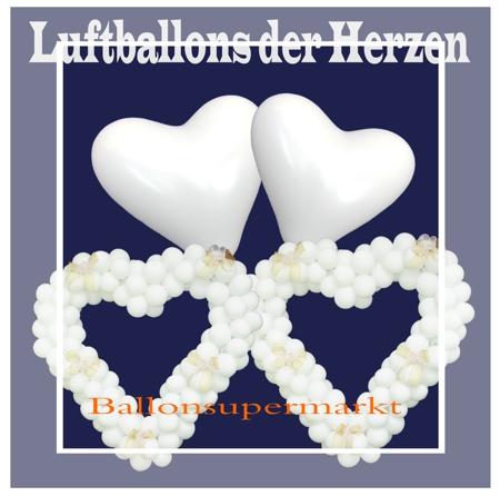 Luftballons der Herzen