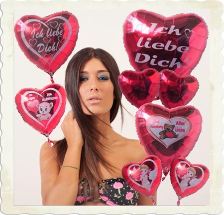 Helium Luftballons zum Valentinstag