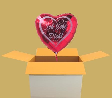 Ich liebe Dich, Helium Luftballon in Herzform. Gibt es ein schöneres Geschenk zum Valentinstag?