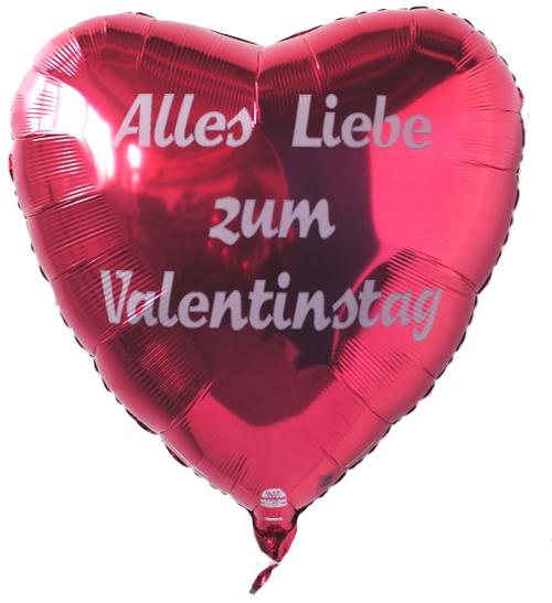 Riesiger Helium Luftballon In Herzform: Alles Liebe Zum Valentinstag