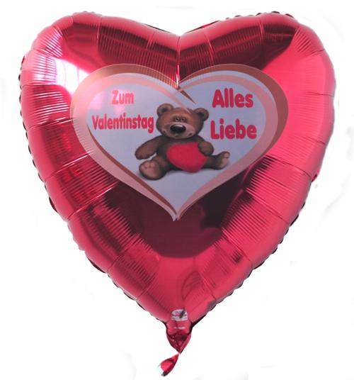 Schön Alles Liebe Zum Valentinstag, Großer 80 Cm Herzluftballon Mit Helium. Eine  Schöne Geschenkidee.
